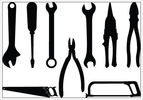 501x351 Construction Tools Clipart Black And White Free 2