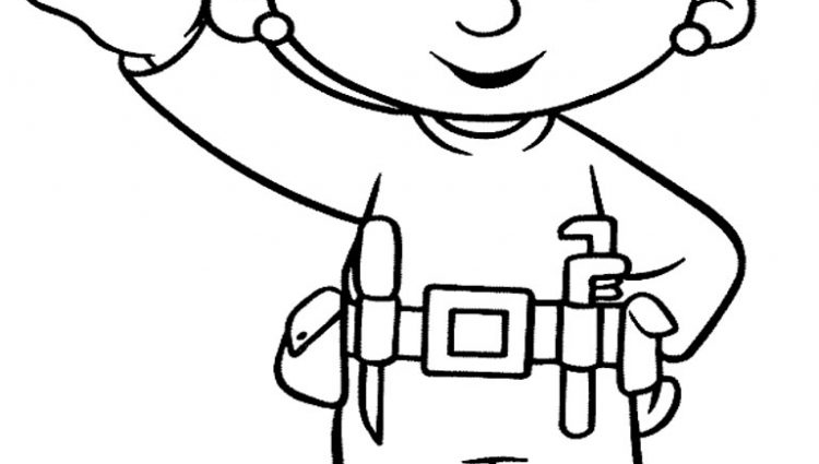 750x425 Construction Tools Coloring Pages Clipart Panda