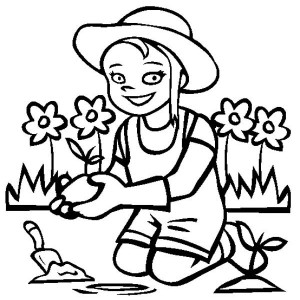 free garden tools coloring pages - photo#30