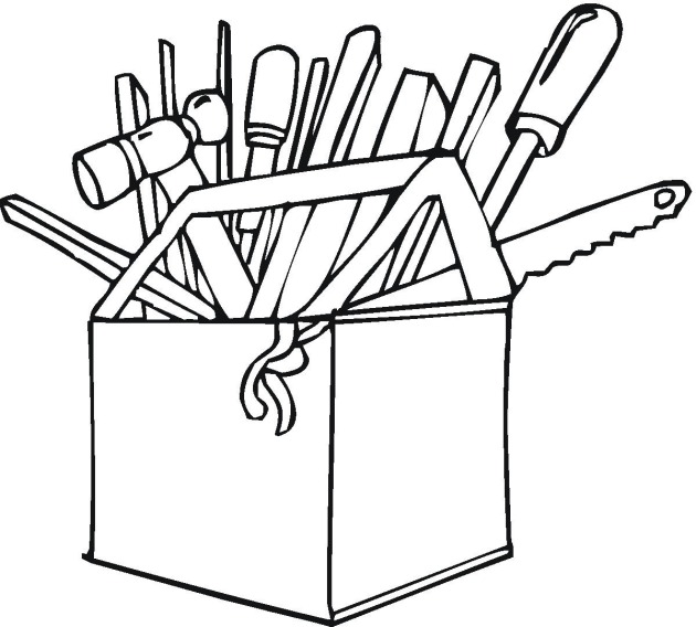 630x568 Tools Colouring Pages Clipart Panda