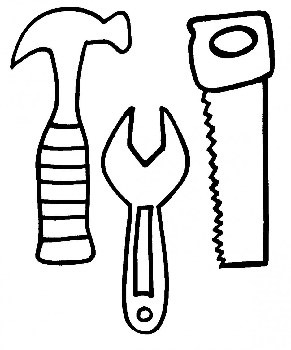 940x1130 Tools Coloring Pages