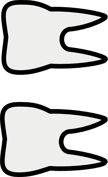 Tooth Clipart Black And White