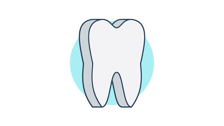 852x480 Animation Of Tooth Rotation With Arrows On Different Backgrounds