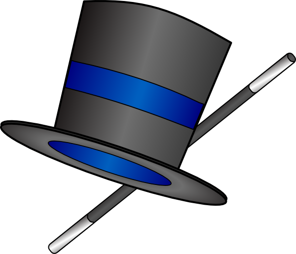 600x515 Magician Clipart Top Hat