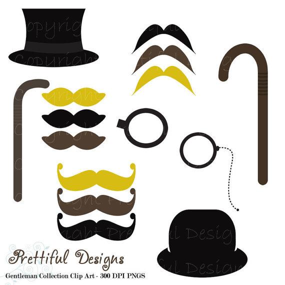 570x570 Mustache Clip Art Top Hat Monocle And Cane Gentleman Clipart