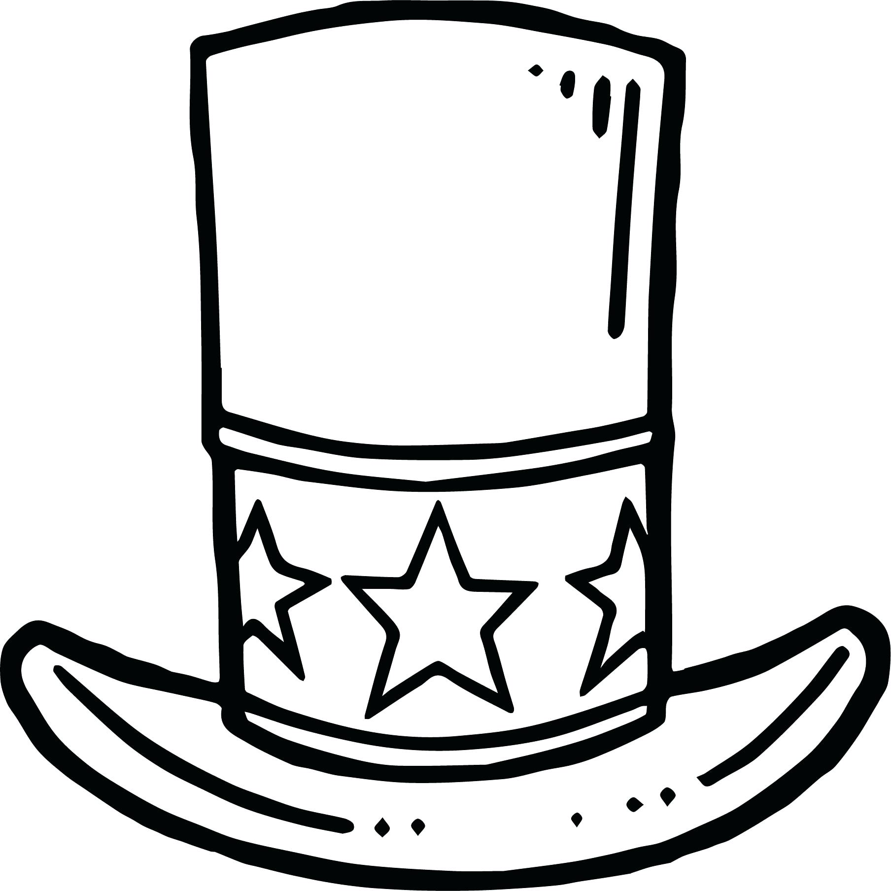 1808x1808 90 Astounding Top Hat Outline Black Cartoon Top Hat Outline. Top