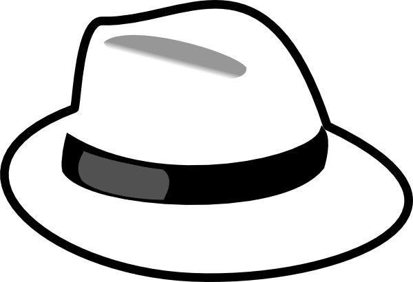 600x410 Straw Hat Clipart Black And White
