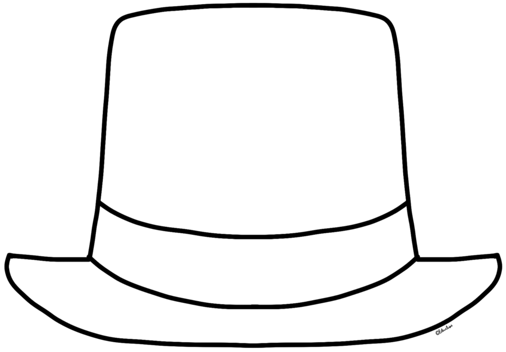 1024x714 Top Hat Coloring Page Az Coloring Pages Coloring Page Top Hat