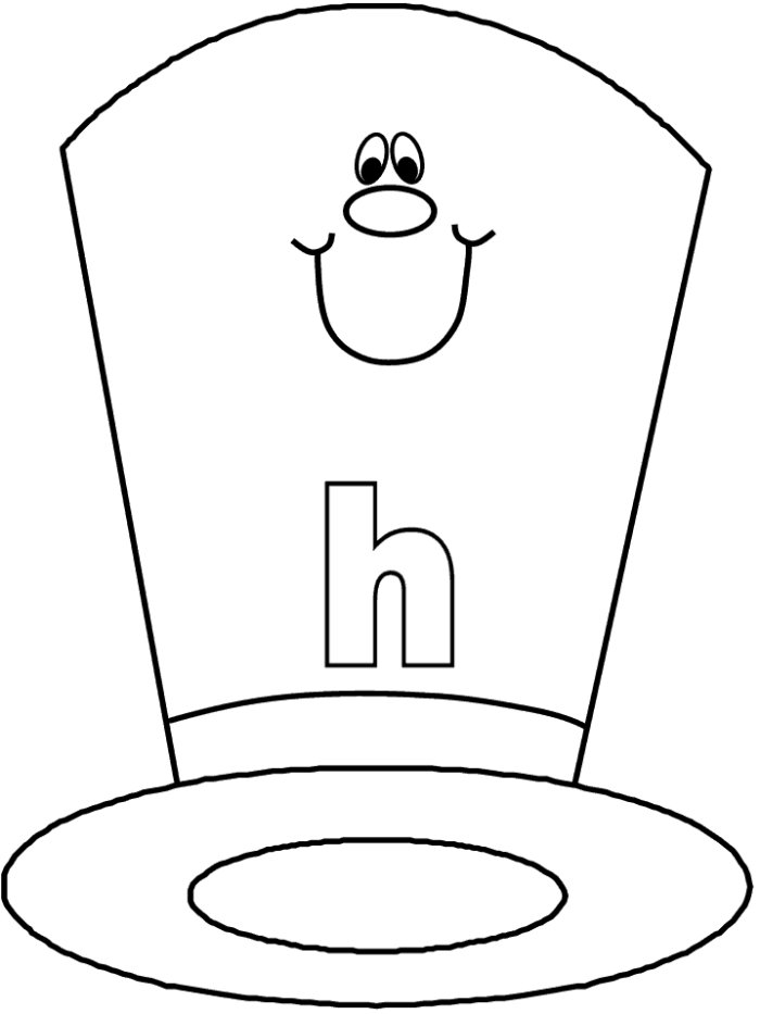 Top Hat Coloring Page | Free download best Top Hat Coloring Page on ...