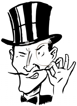 256x350 Drawn Top Hat Villain