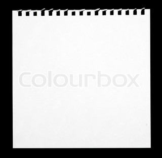 320x312 Blank White Paper Sheet With Torn Holes In Left Side Isolated