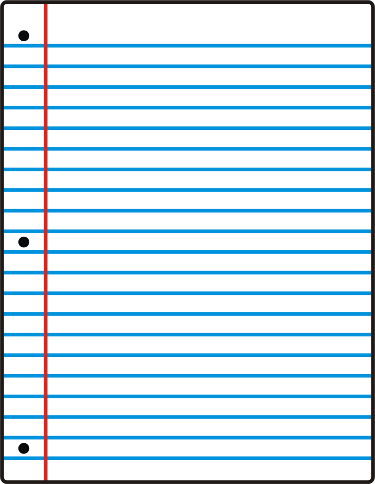 773x998 Clipart Notebook Paper  Lined Blank Paper