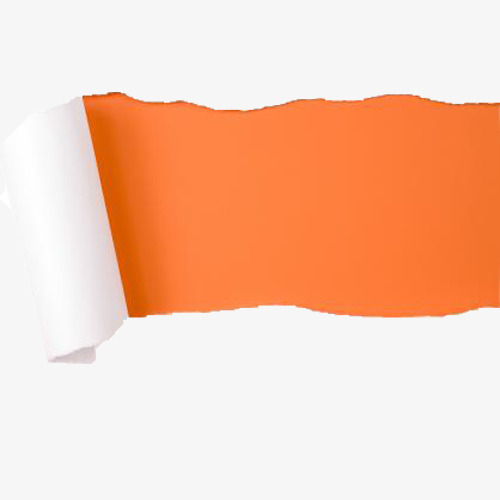 500x500 Torn Paper, Tearing, Orange Background, Paper Png Image For Free