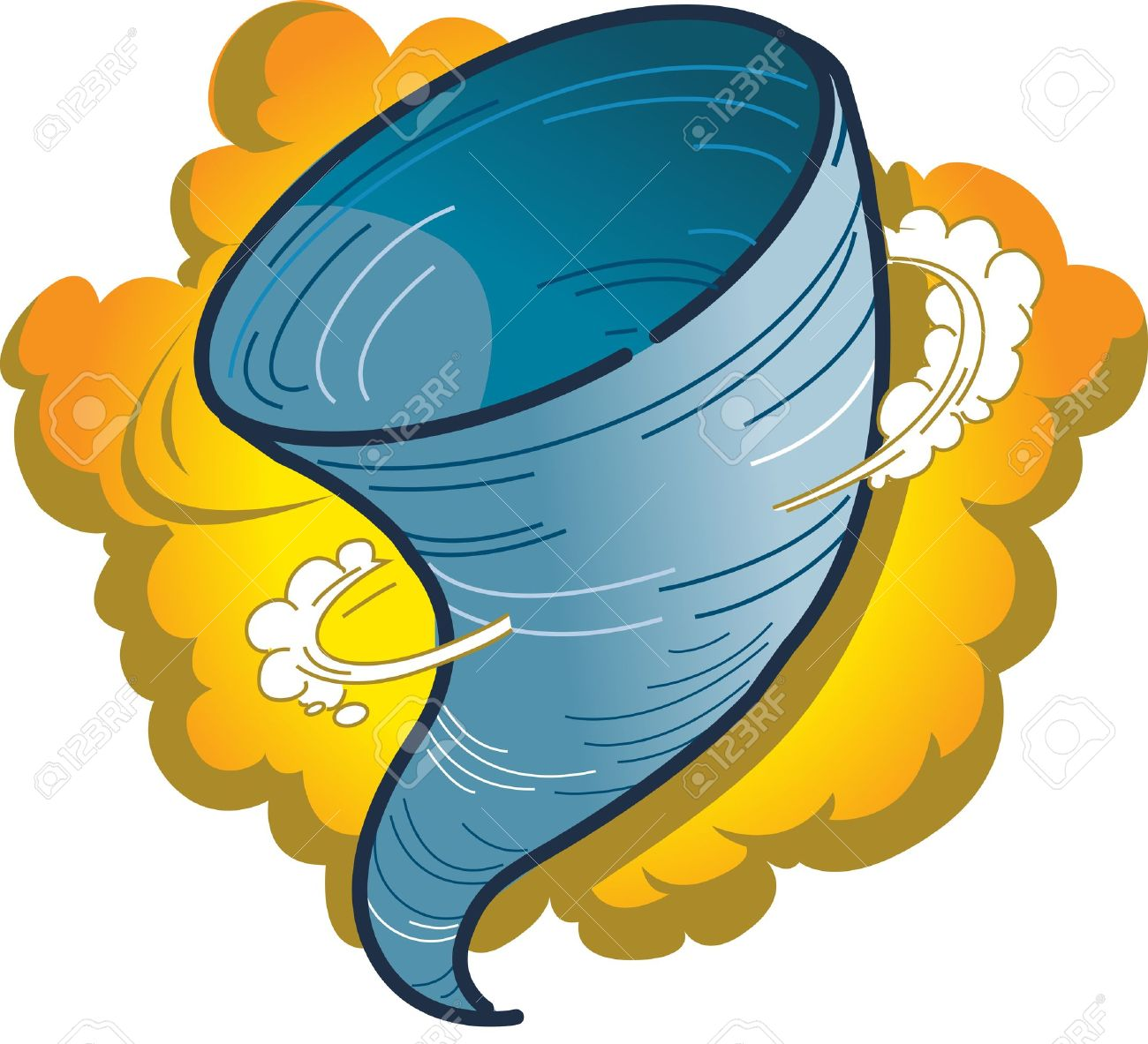 1300x1183 Cartoon Graphic Of A Tornado, Hurricane Or Water Spout Royalty