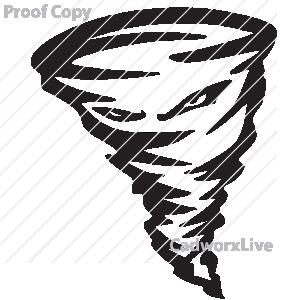 300x300 Tornado Mascot Clipart