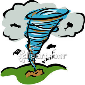 298x300 Tornado Clipart Destroyed House