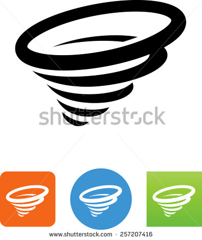 395x470 Tornado clipart symbol