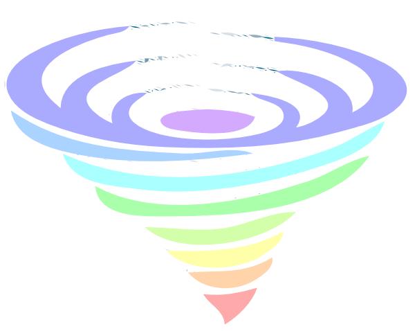 600x478 Multicolored Tornado Clip Art