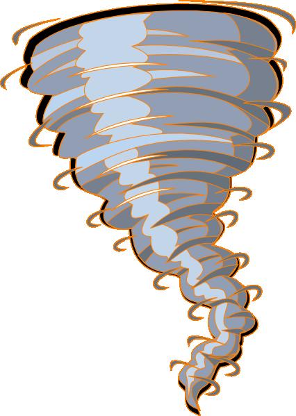 426x599 Orange Tornado Clip Art