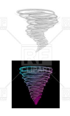 242x400 Tornado Design Element Royalty Free Vector Clip Art Image