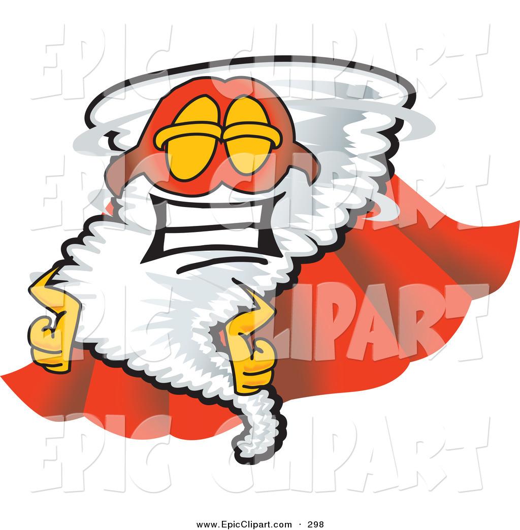 1024x1044 Vector Cliprt Of Proud Tornado Mascot Cartoon Character In