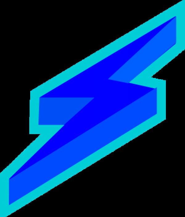 600x707 Blue Lightning Bolt Clipart, Explore Pictures
