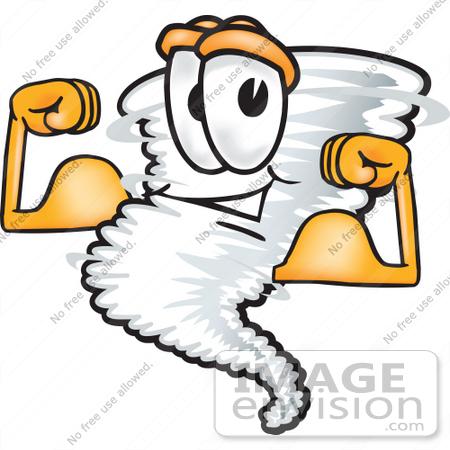 450x450 Clip Art Graphic Of A Tornado Mascot Character Flexing His Arm