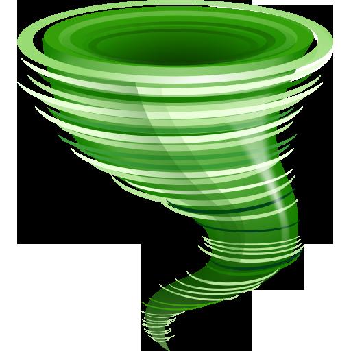 512x512 Tornado Clipart Green