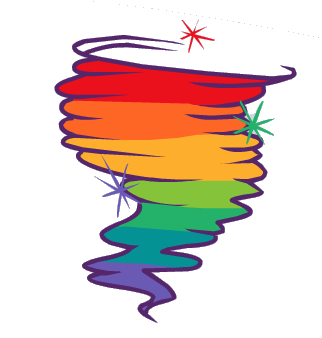 322x338 Tornado Clipart Rainbow