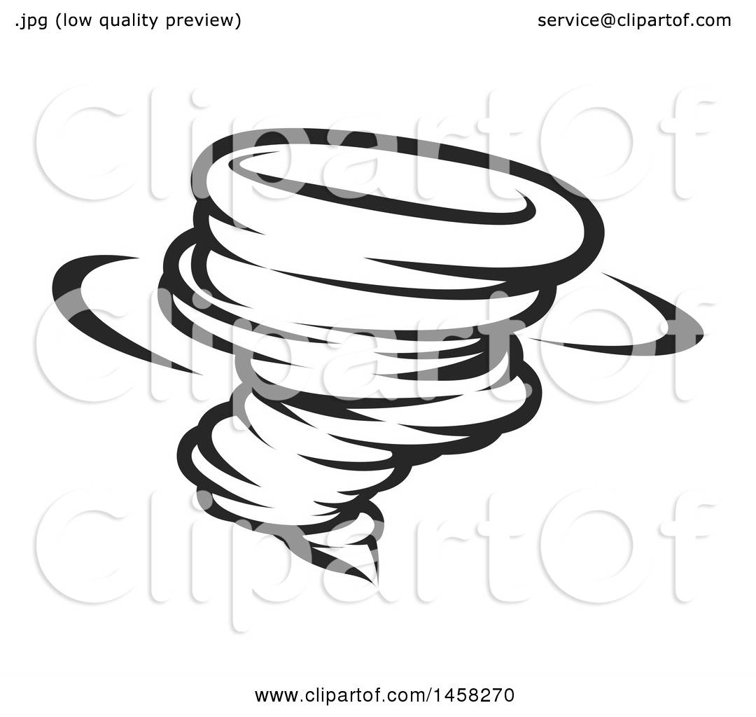 1080x1024 Clipart Of A Black And White Spinning Tornado Twister
