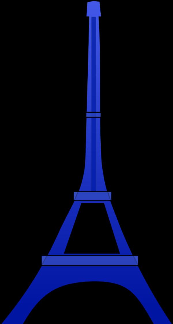 600x1121 Eiffel Tower Clipart Blue