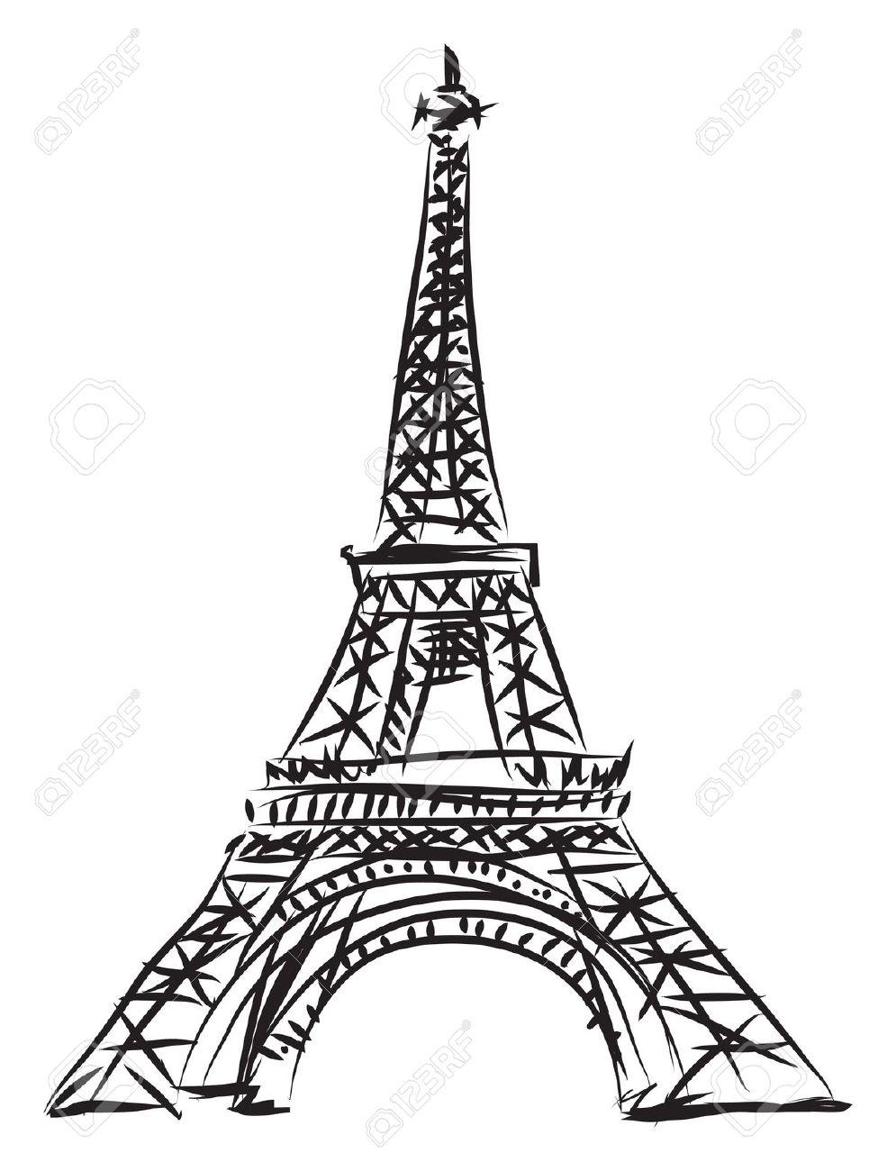 995x1300 Eiffel Tower Clipart Drawn
