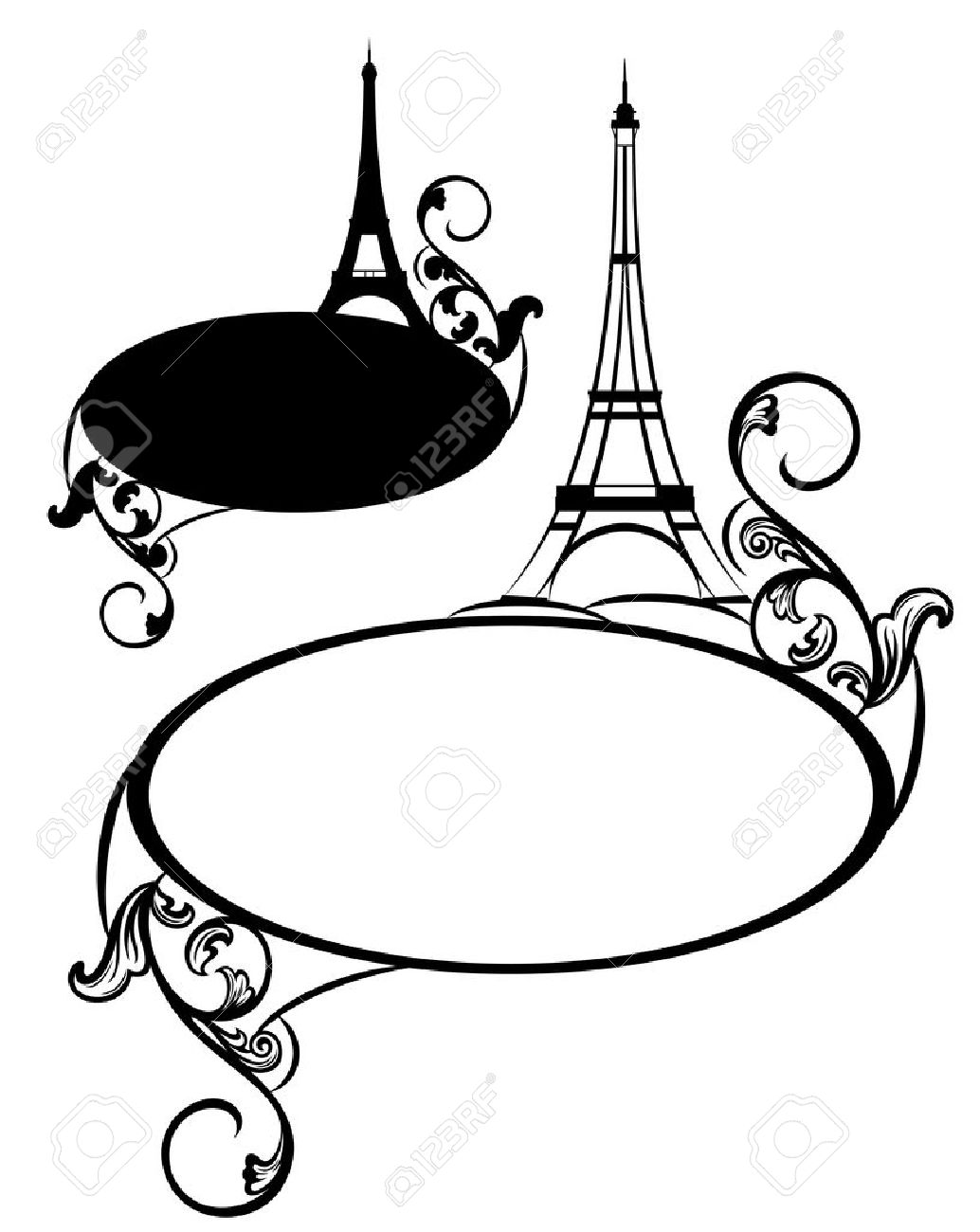 1034x1300 Eiffel Tower Clipart Frame French