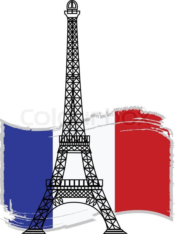 599x800 Eiffel Tower Clipart French Flag