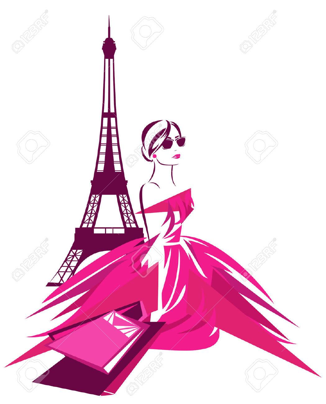 1050x1300 32042085 Fashion Shopping In Paris Design Beautiful Woman Wearing
