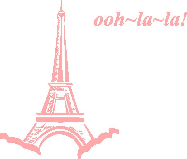 600x511 Pink Eiffel Ooh La La Clip Art
