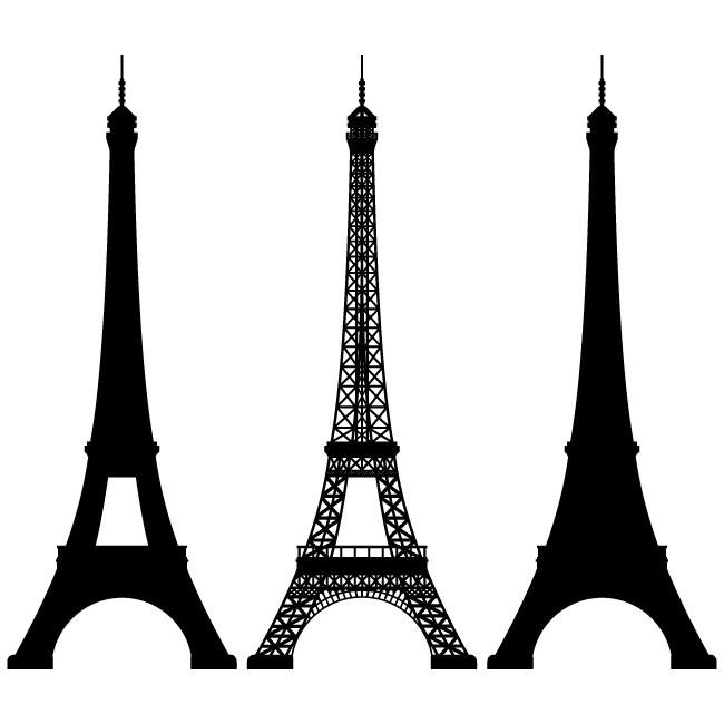 650x650 Simple Eiffel Tower Clip Art
