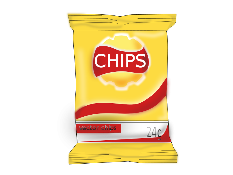 800x600 Chips And Drink Clipart