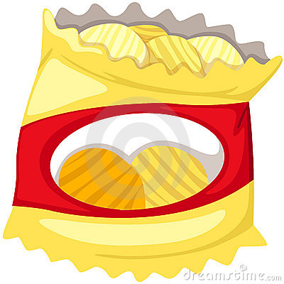 400x400 Chips Bag Clip Art