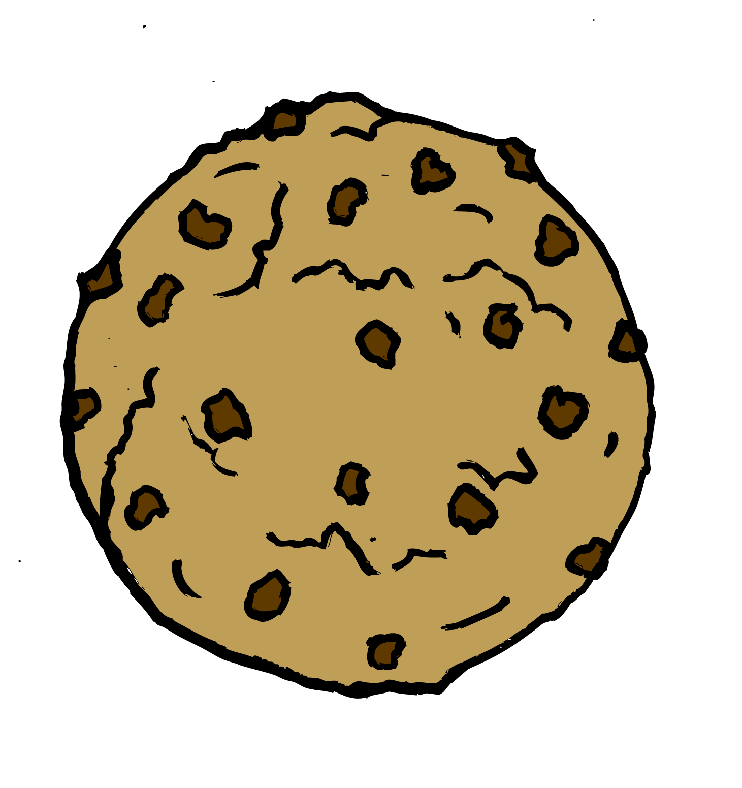 1461x1551 Chocolate Chip Cookie Black And White Clipart
