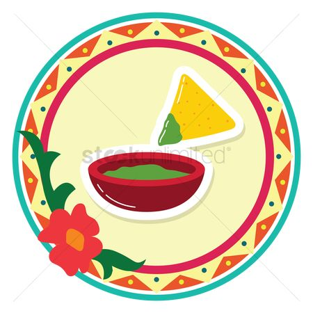 450x450 Free Guacamole And Tortilla Chips Stock Vectors Stockunlimited