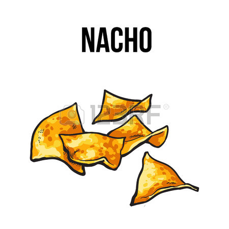 450x450 Nachos, Traditional Mexican Food Made Of Corn Tortilla With Salsa