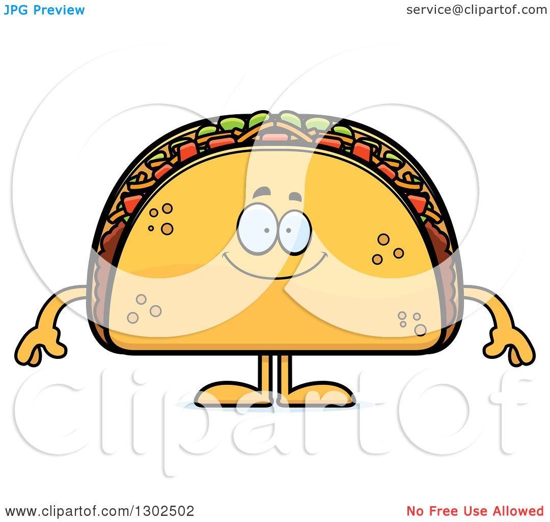 1080x1024 Royalty Free (Rf) Clipart Illustration Of A Crunchy Taco