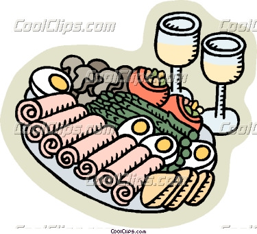 375x341 Appetizers Clipart