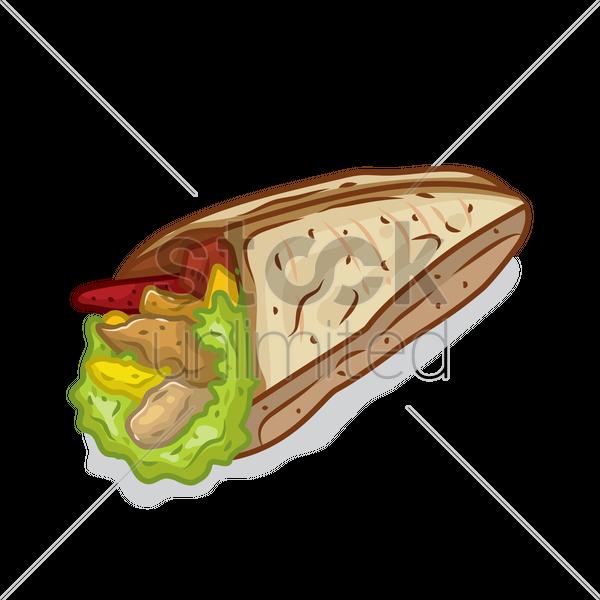 600x600 Tortilla Vector Image