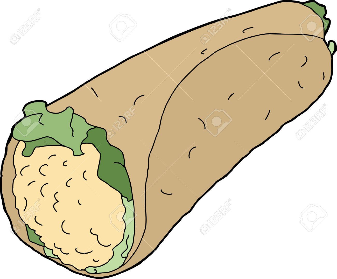 1300x1076 Tortilla Clipart Chicken Wrap