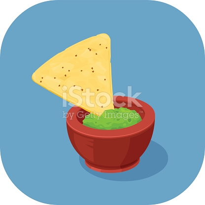 416x416 Tortilla Clipart Chip Guacamole