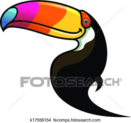 450x420 Clipart Of Toucan With A Colourful Beak K17556154