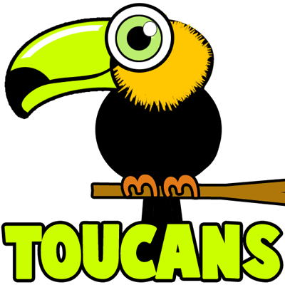 400x400 How To Draw Cartoon Toucans With Easy Step By Step Drawing