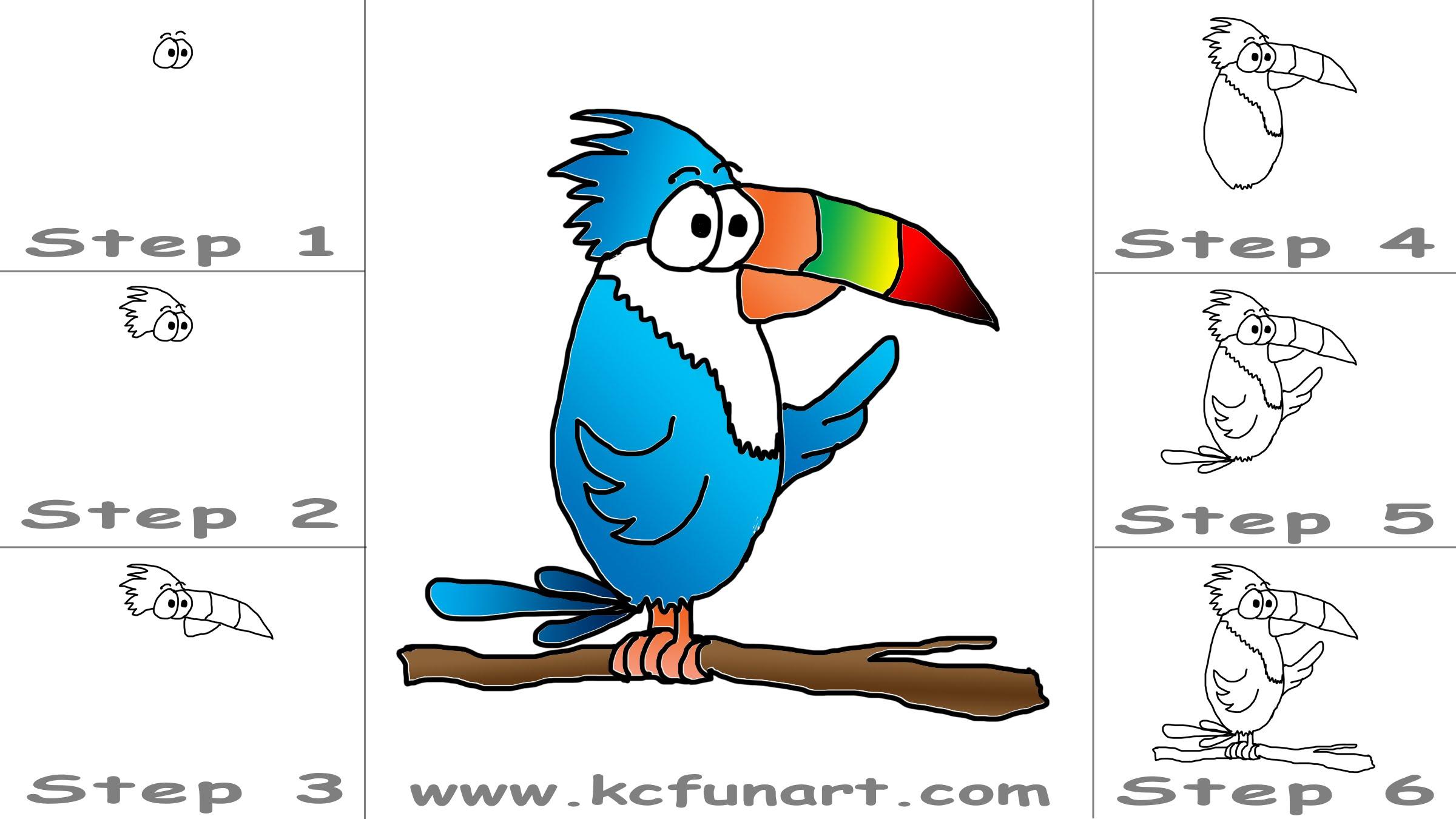 2400x1350 How To Draw A Cartoon Toucan Bird Youtube